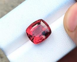 HGTL CERTIFIED 5.62 Ct Natural Reddish Pink Transparent Rubellite Tourmalin