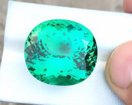 HGTL CERTIFIED 38.3 Ct Natural Green Transparent Big Size Kunzite Gemstone