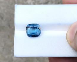 HGTL CERTIFIED 2.61 Ct Natural Blue Transparent Tourmaline Ring Size Gemsto