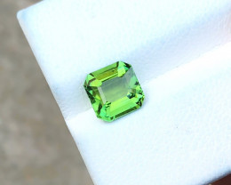 1.70 Ct Natural Green Transparent Tourmaline Ring Size Gemstone