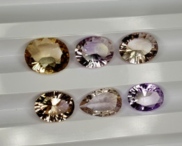 9Crt Bolivian Ametrine Concave cut lot Natural Gemstones JI131