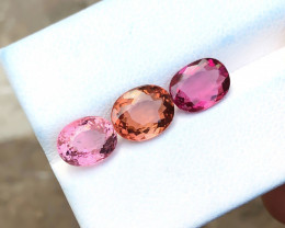 4.60 Ct Natural Red pink & Orange Transparent Tourmaline Gems Parcels