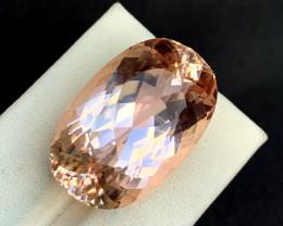 52.90 Carats Natural Peach Pink Color Kunzite Gemstone