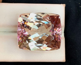 62 Carats Natural Peach Pink Kunzite Gemstone