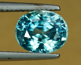 5.01CT BRIGHT PARAIBA-BLUE NATURAL ZIRCON $1NR!
