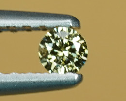 .07CT 3.1mm FANCY YELLOW COLOR NATURAL DIAMOND $1NR!