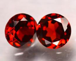 Almandine 3.10Ct 2Pcs Natural Vivid Blood Red Almandine Garnet E1406/B27