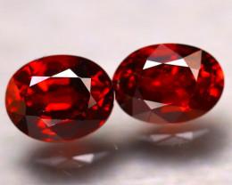 Almandine 3.89Ct 2Pcs Natural Vivid Blood Red Almandine Garnet E1407/B27