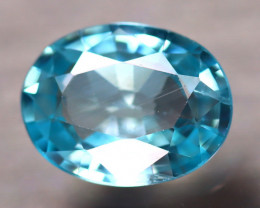 Blue Zircon 2.10Ct Natural Cambodian Blue Zircon E1413/B6