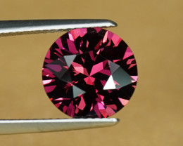 10.4mm 4.14CT ROUND BRILLIANT CUT RASPBERRY RHODOLITE $1NR!