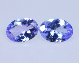 1.55cts Natural D Block Tanzanite Pairs Stone / KL725