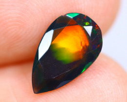 1.21cts Natural Ethiopian Faceted Smoked Welo Opal / KL729