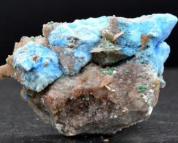 Cyanotrichite baryte fluorite - 24 grammes - Qinglong Mine, Dachang Sb ore