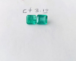 3.10ct  Colombian Emerald Pair