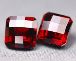 Almandine 4.96Ct VS 2Pcs Pixalated Cut Natural Almandine Garnet A1207