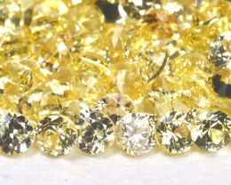 3.74Ct Calibrate 1.7mm Round Natural Ceylon Yellow Sapphire Lot A1212