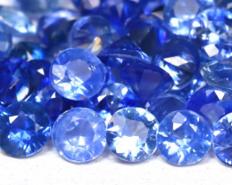 4.03Ct Calibrate 2.2mm Round Natural Blue Color Sapphire Lot A1218
