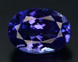 AAA Grade 1.55 ct Tanzanite eye catching Color H.M