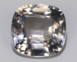 1.35 CTS WONDERFUL MASTER GRADE LUSTROUS CUSHION~CUT GRAY SPINEL!!