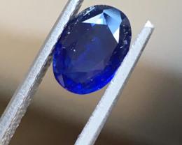 Natural Deep Royal Blue Sapphire |Certified | Oval | Sri Lanka -