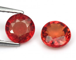 1.35 CaratFancy Orange Red Color Sapphire Loose Gemstones