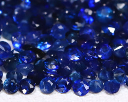 2.96Ct Calibrate 1.3mm Round Natural Blue Color Sapphire Lot C1211