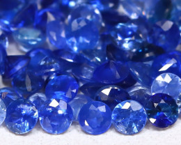 3.61Ct Calibrate 2.2mm Round Natural Blue Color Sapphire Lot C1218