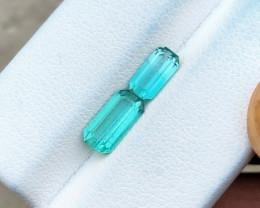 1.75 Ct Natural Blue Transparent Tourmaline Gemstones Parcels (N1)