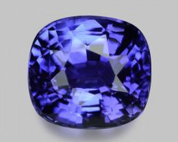 Exquisite natural vivid purplish blue sapphire.