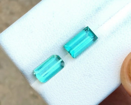 2.55 Ct Natural  Blue Transparent Tourmaline Gemstones Parcels (N2)