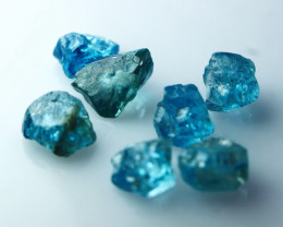 NR!! 22.35 CTs Natural Blue Zircon Rough Lot