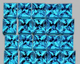 1.80 mm Square Princess 70pcs 2.81cts Swiss Blue Topaz [VVS]