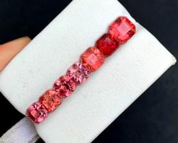 9.00 Carats Natural Asscher Cut Tourmaline Gemstones