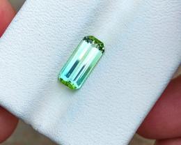1.70 Ct Natural Greenish Blue Transparent Tourmaline Gemstone