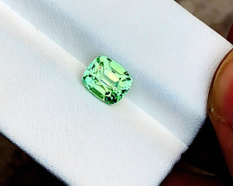 1.50 Ct Natural Green Transparent Tourmaline Ring Size Gemstone