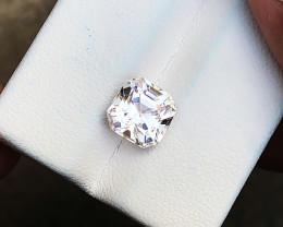 2.85 Ct Natural Pinkish Transparent Asscher Cut Tourmaline Gemstone