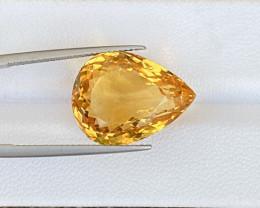 15.83 Cts Natural Citrine Super Nice Color Gemstone.