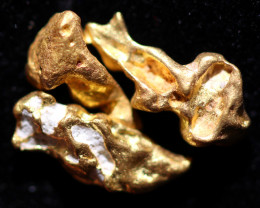 0.37 Grams - ONE NUGGET ONLY - Australian Kalgoorlie Gold Nugget CCC 1352