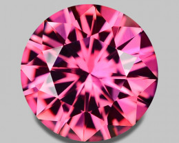 Flawless, custom precision cut natural pink tourmaline.