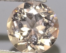 1.60 CTS EXCELLENT NATURAL LUSTER-PEACH MORGANITE ROUND GEM!!