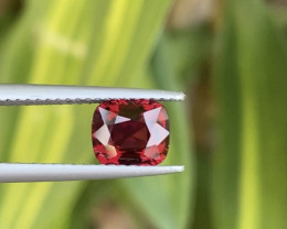 1.38 Cts Natural Burma Top Red Color Cushion cut Spinel
