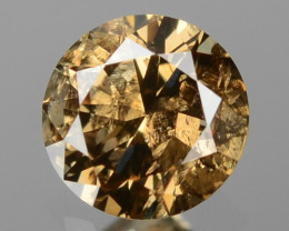 *NoReserve* Champagne Diamond 0.10 Cts Untreated Fancy Natural