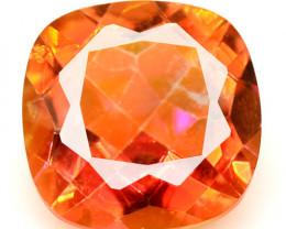 Mystic Quartz 3.81 Cts Rare Fancy Orange Red Color Natural