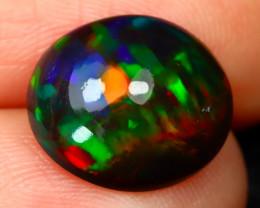 Rare Black Opal 2.04Ct Natural Smoked Ethiopian Black Opal B1616