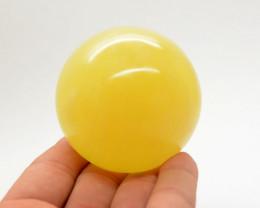 1900 CTs Beautiful Lemon Calcite Healing Sphere From Pakistan