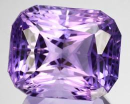 ~CUSTOM CUT~ 36.31 Cts Natural Purple Amethyst Fancy Cushion Bolivia