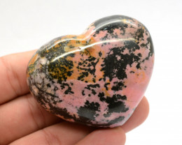 806 Ct Polished Heart Shape Rhodonite From Pakistan