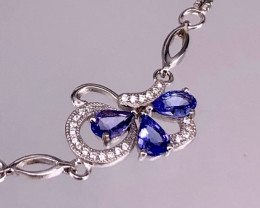 Tanzanite 925 Silver Bracelet by DANI Jewellery
