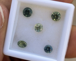 2.05ct untreated multicolor sapphire parcel