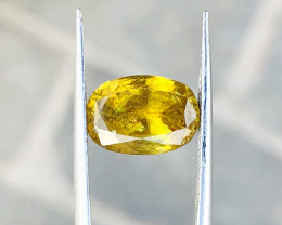 4.10 Ct Natural Fire Yellowish Brown Transparent Sphene Gemstone